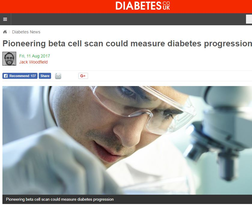 Pioneering beta cell scan could measure diabetes progression
