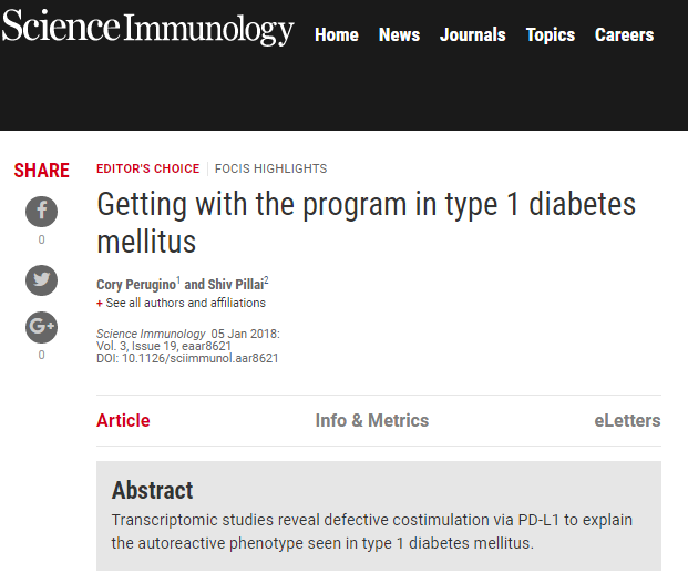 Getting with the program in type 1 diabetes mellitus